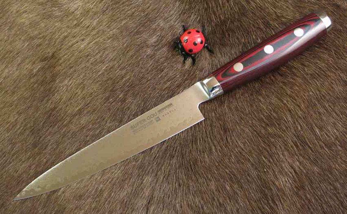 Chefs Knife 15 Cm Super Gou 161 Layers Damascus