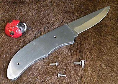 Foldekniv ''bimse'' - lige klar til skaller
