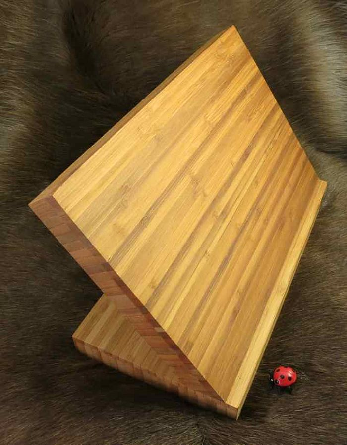 knivblok magnet i Bambus til 5-6 knive